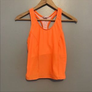 Pearl Izumi Orange Racerback Athletic Tank Top